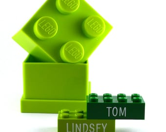 LEGO® brick with name engraved custom made personalized