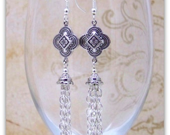 Medieval Earrings - Renaissance Earrings - Medieval Jewelry - Renaissance Jewelry, Tudor Jewelry, Tudor Earrings, Elizabethan