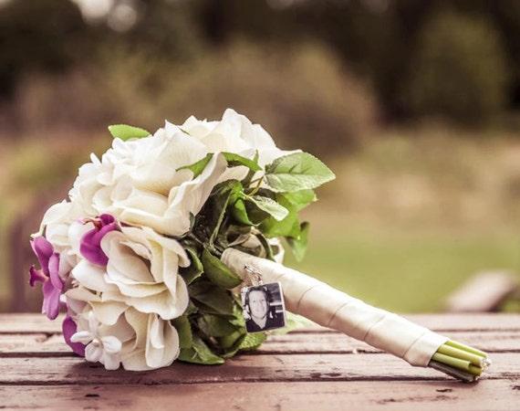Bridal Bouquet Charm - Medium Photo Pendant - BC2