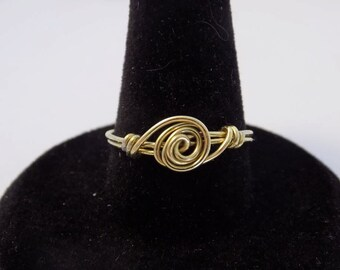 Gold Rose Ring - Size 8