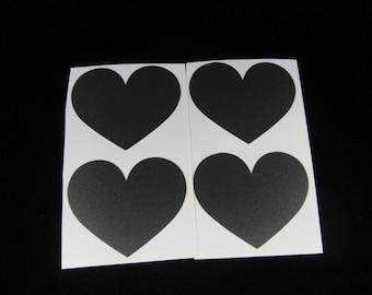 Chaulkboard Heart Label, Mason Jar Label, Favor Label, Weddings, Write On Label, Valentine's Day Labels, Wedding Favors - Qty 12