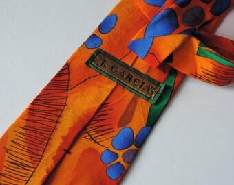 Vintage Necktie Men's 100% Silk Tie Jerry Garcia Collection J. Garcia Art in Neckwear Designer Neck Tie Stonehenge Ltd.