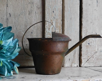 Little Vintage Copper Watering Can, Flower & Plant Water Can