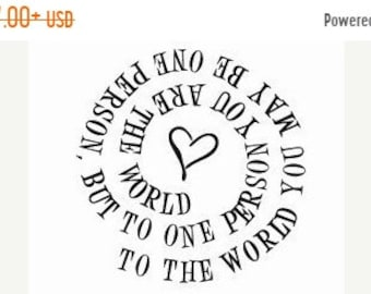 May Sale To One Person You are the World Spiral Rubber Stamp 181