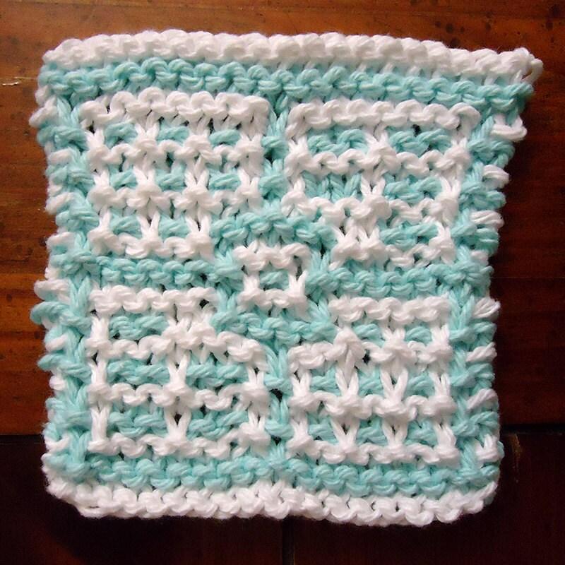 Knit Coaster Pattern Knit Dishcloth Hotpad Blanket Square