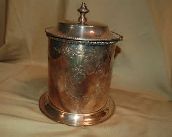 Reed and Barton Silverplate Bucket Container Sheffield England