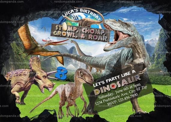 printable dinosaurs invitation dinosaur t rex birthday