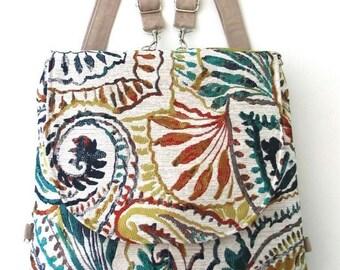 backpack purse converts to messenger, blue tote bag, crossbody bag, shoulder handbag, everyday bag, zipper bag