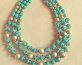 West German Three Strand Necklace