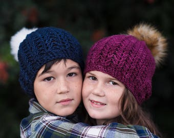 Instant Download, Textured Beanie Hat Pattern, PDF FIle