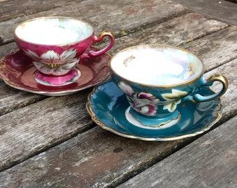 Vintage Boho Gypsy Tea Cups