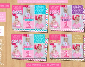1st birthday invitation girl pink gold 1st birthday girl invitation pink gold printable photo girl 1st birthday invitation first birthday