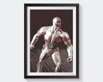 Ultron Original Art, Marvel Studios Poster Print Wall Art, Digital Download High Quality Poster For Wall Decor