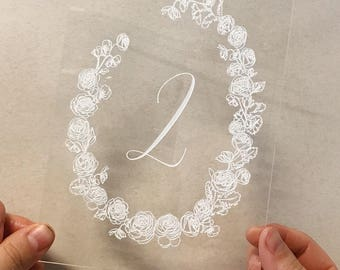 Acrylic Table Number Rentals - Hawaii Calligraphy