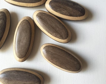 Driftwood Gray Oval Wood 45 x 20mm