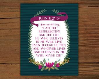 John 11:25-26 Print