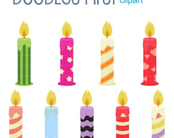 candles clip art etsy rh etsy com clip art candle burning both ends clip art candlelight