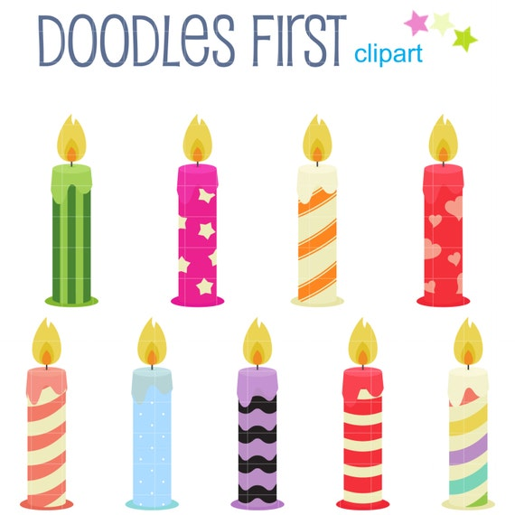 Lustige Geburtstag Kerzen Digital Clip Art F 252 R Scrapbooking
