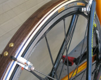 Woody's compound curve road bike fenders for 700c wheels.