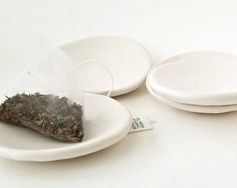 "White Rustic Ceramic Dishes (1 ea) ""BALANCE"" 
