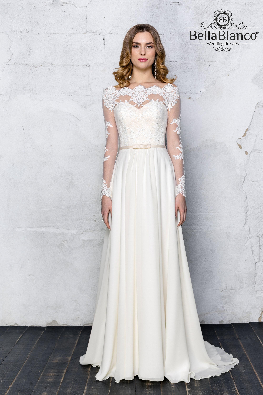 Böhmische Hochzeit Kleid / lange Ärmel Hochzeit Kleid / light