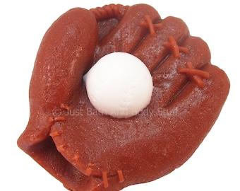 Baseball Soap, Baseball Glove Soap, Novelty Soap, Bath Soap, Guest Sized or Kids Soap, you pick scent & color