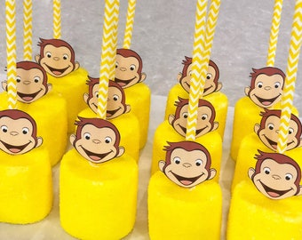 Curious George marshmallow pops