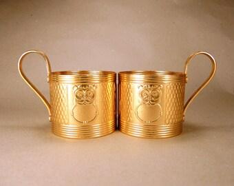 Vintage Tea Glass Holders - set of 2