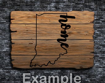 Indiana Home ai  eps  jpg  png  and svg Clipart, Vinyl, Stencil - Cricut - Silhouette Cameo