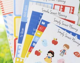 Princess Themed Sticker Kit - Planner Stickers - Happy Planner - Weekly Kit - Erin Condren - Weekly Planner - Planner Kit - Functional