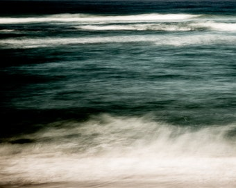 Ocean Photography - Beach Waves Wall Art - Abstract Fine Art Photography - South Africa - African Art Color Photography