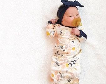 The Original Wispy Wildflower Newborn Baby Layette Gown
