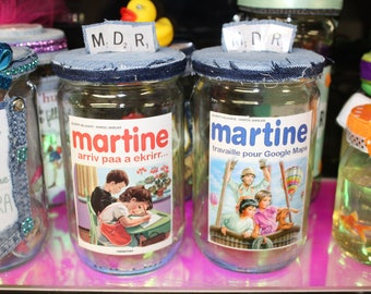 Recycled glass jars / swag too