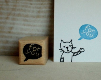 for you - rubberstamp - 2x2cm - by  SiebenMorgen