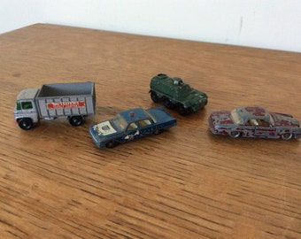 Vintage 1960's 'Lesney' Vehicles, selection of four, British Made