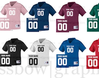 CUSTOM TODDLER Football Jersey ANY Color Personalized Numbers Name & Team New!