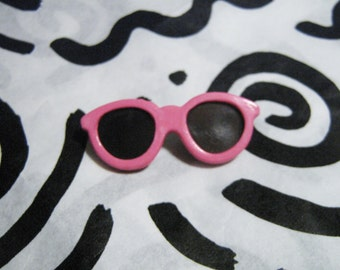 Retro Fashion Pin Miniature Pink Sunglasses Brooch 80s New Wave