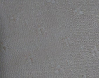 "Linen Off White Pattern Fabric 50"" Wide"