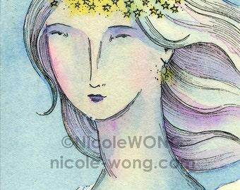 Original ACEO Painting -- Ice princess