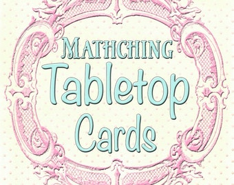 Matching Tabletop Cards to any design in my shop, or your custom design