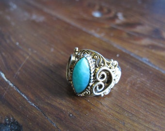 Victorian Style Turquoise Ring