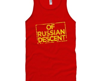 Of Russian Descent Tank Top - Unisex XS S M L XL 2x Men and Women - Russia Pride, Россия Tank Top, Русские Tank Top, Russkiye Tank Top, RUS