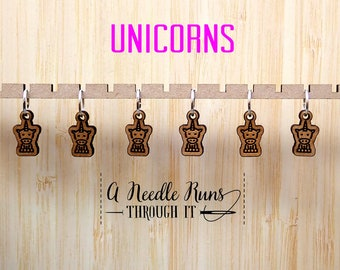 Unicorn stitch marker set, snag free stitch markers. Magical stitch markers for knitting, knitting, crochet markers