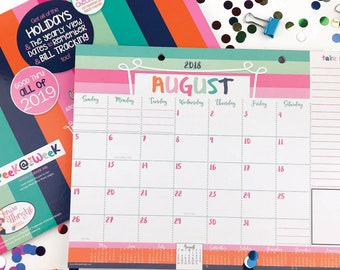 NEW! 2018-19 Monthly Desk Calendar with Tear-off Lists, Scheduling Tools, Bill Pay Worksheet and More!