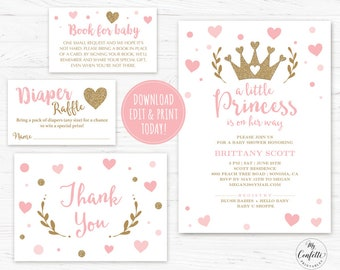 printable baby templates invitations free for girls ba ideas shower