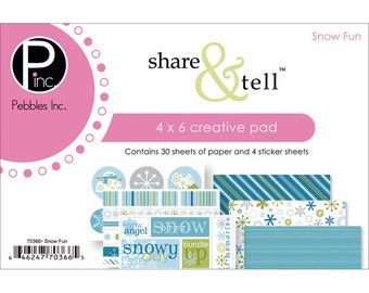 Share & Tell Snow Fun 4x6 Creative Paper and Sticker Pad by Pebbles Inc
