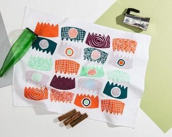 Combs Mid Mod Tea Towel • Summer Brights Series