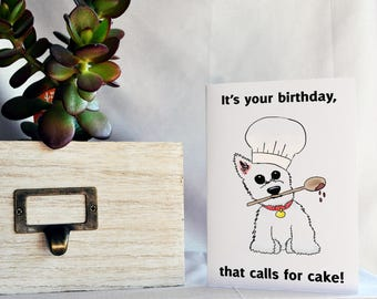 Card - Birthday - Westie chef
