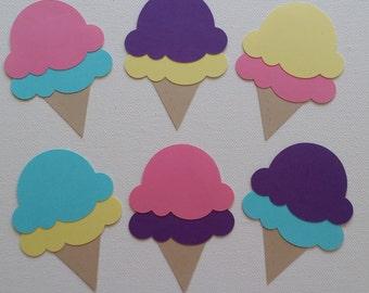 Ice Cream Cone Die Cut set of 6