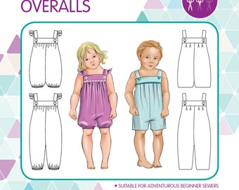 PATTERN Vintie Overalls - PDF Sewing Pattern - Instant Download - Tadah Patterns